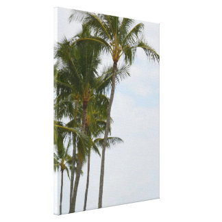 Tropical Palm Trees at Poipu Canvas Print