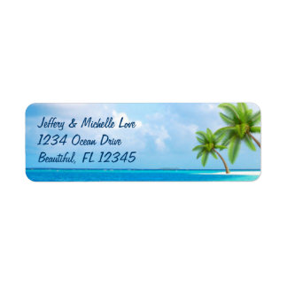 Tropical Palm Trees Beach Address
