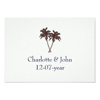 Tropical Palm Trees Beach Wedding Stationery Card
