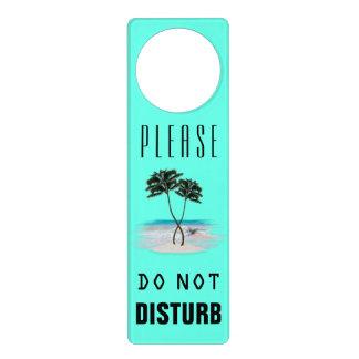 Tropical Palm Trees Do Not Disturb Door Hanger