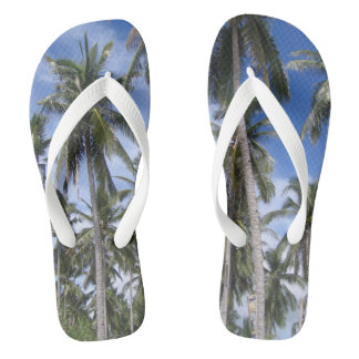Tropical Palm Trees Flip Flops