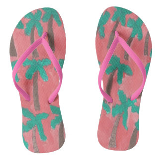 Tropical Palm Trees Flipflops