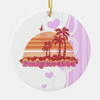 tropical palm trees hawaii bachelorette party christmas ornament