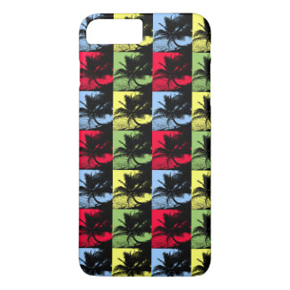 Tropical Palm Trees in Posterised Pattern iPhone 8 Plus/7 Plus Case
