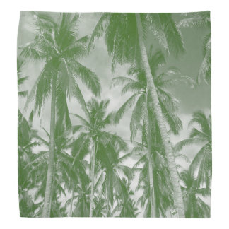 Tropical Palm Trees. Mono design in green Bandana