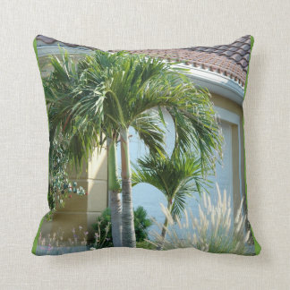 Tropical palm trees ornamental grass Pillows