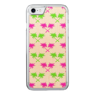 Tropical Palm Trees Pattern Carved iPhone 8/7 Case