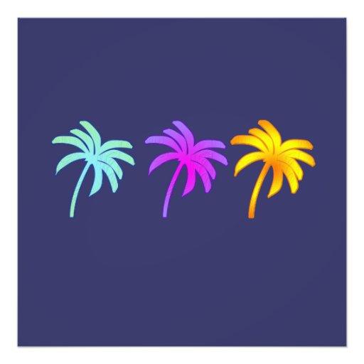 Tropical Palm Trees Art Photo