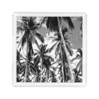 Tropical Palm Trees. Posterised design. Acrylic Tray