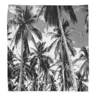 Tropical Palm Trees. Posterised design. Bandana