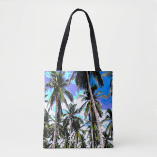 Tropical Palm Trees. Posterised design. Tote Bag