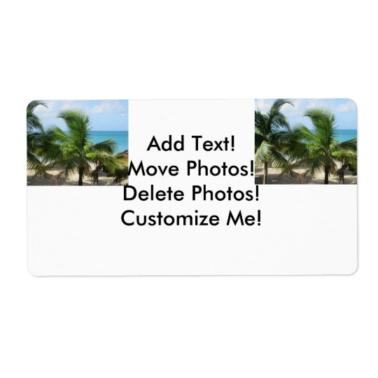 Tropical Palm Trees Shipping Label