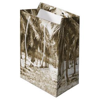 Tropical Palm Trees Vintage Medium Gift Bag