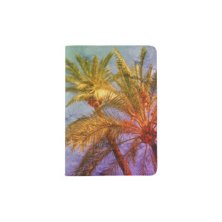 Tropical Palm Trees Vintage Passport Holder