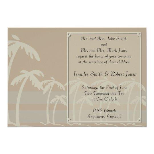 Tropical Palm Trees Wedding Invitations