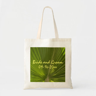 Tropical Palm Wedding Budget Tote Bag
