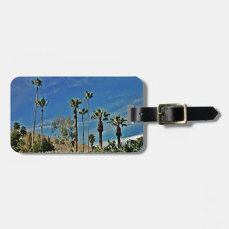 Tropical Palms and Blue Sky Travel Bag Tags