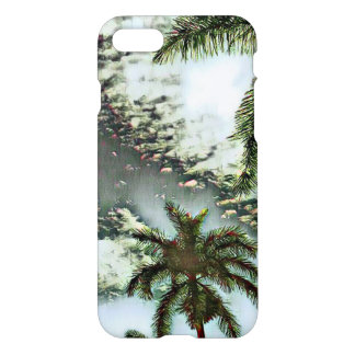 Tropical palms and clouds in the sky iPhone 8/7 case