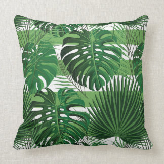 Tropical palms cushion
