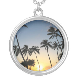 Tropical Palms Necklace