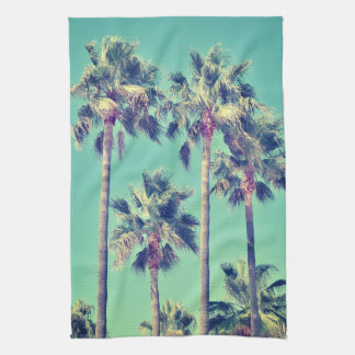 Tropical Palms on Teal Tea Towel