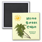 Tropical Palms Personalised Cabin Door Marker Magnet