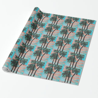 TROPICAL PALMS SUNSET Wrapping Paper