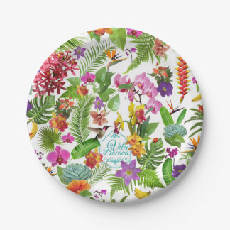 Tropical Paper Plates 7 Inch Paper Plate