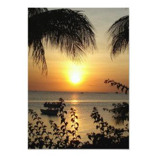 Tropical Paradise 13 Cm X 18 Cm Invitation Card