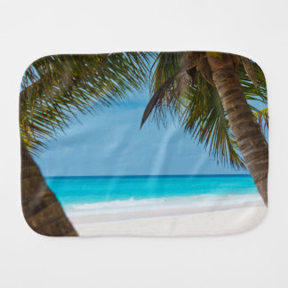 Tropical Paradise Baby Shower New Parents Burp Cloth