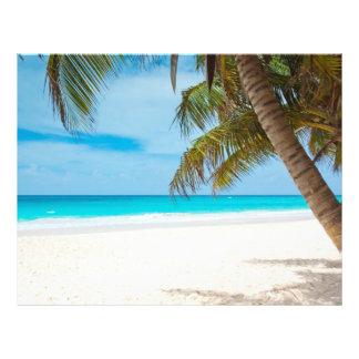 Tropical Paradise Beach 21.5 Cm X 28 Cm Flyer
