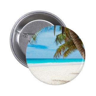 Tropical Paradise Beach 6 Cm Round Badge