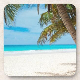 Tropical Paradise Beach Beverage Coaster