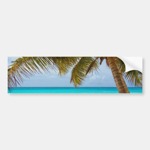 Tropical Paradise Beach Bumper Stickers