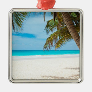Tropical Paradise Beach Christmas Ornament