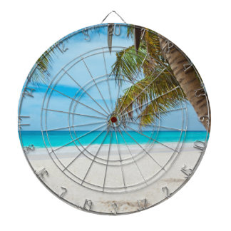 Tropical Paradise Beach Dartboard