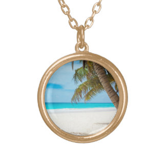 Tropical Paradise Beach Gold Plated Necklace