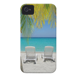 Tropical paradise beach in the Caribbean iPhone 4 Covers