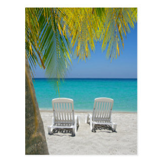 Tropical paradise beach in the Caribbean Postcard