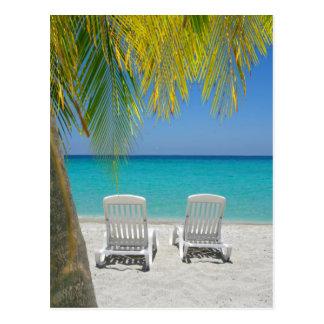 Tropical paradise beach in the Caribbean Postcard