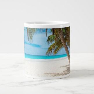 Tropical Paradise Beach Large Coffee Mug