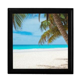 Tropical Paradise Beach Large Square Gift Box