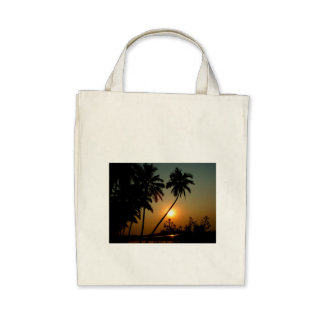 Tropical Paradise Beach Palm Tree Sand Sun Peace Tote Bag