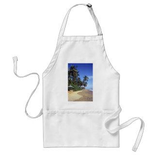 Tropical Paradise Beach Scene Apron