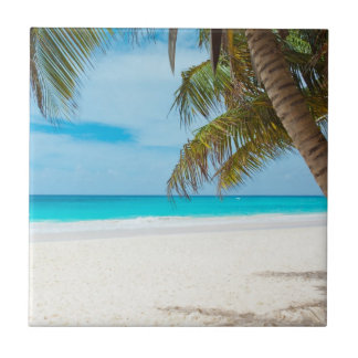 Tropical Paradise Beach Small Square Tile