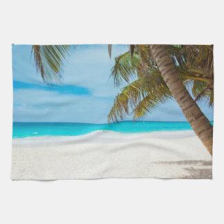 Tropical Paradise Beach Tea Towel