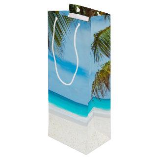 Tropical Paradise Beach Wine Gift Bag