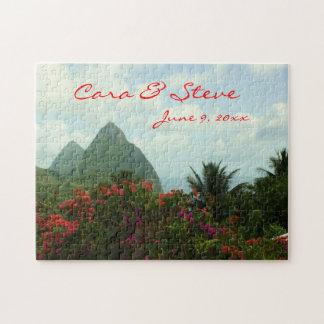 Tropical Paradise Customizable Wedding Puzzle