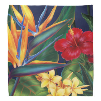 Tropical Paradise Hawaiian Bandana
