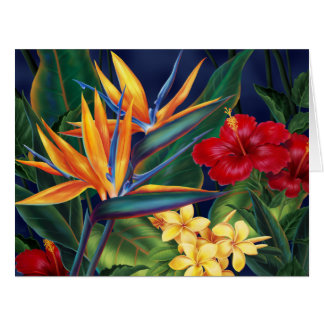 Tropical Paradise Hawaiian Big Greeting Card